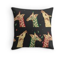 psychedelic giraffes  Throw Pillow