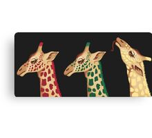 psychedelic giraffes  Canvas Print