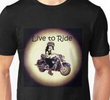 Biker Girl Live to Ride Unisex T-Shirt