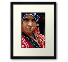 Country Beauty from Rajasthan Framed Print