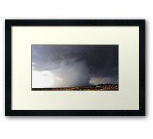 Bucket Rain Framed Print