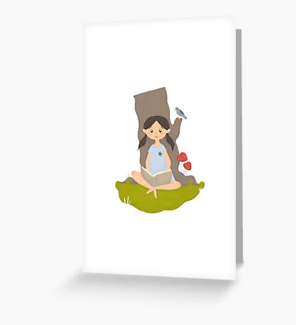 Nature reading Greeting Card