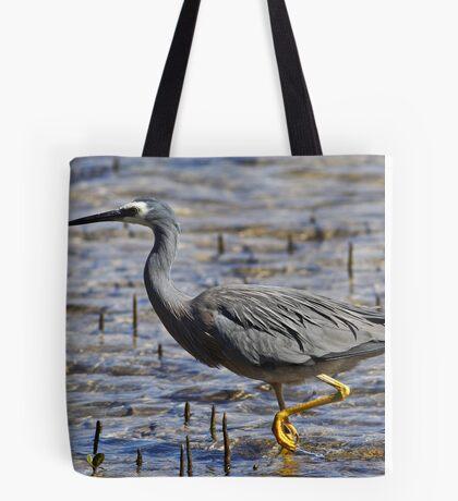 White-faced Heron at Merimbula Tote Bag
