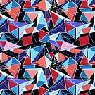 abstract pattern of  structure polygons by Tanor