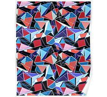 abstract pattern of  structure polygons Poster