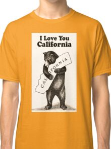 Vintage I Love You California Classic T-Shirt