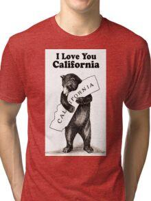 Vintage I Love You California Tri-blend T-Shirt