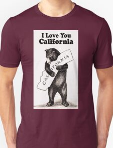 Vintage I Love You California T-Shirt