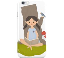 Nature reading iPhone Case/Skin