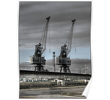 Two Cranes Poster