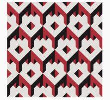 3d cube pattern - geometric design -seamless Kids Tee