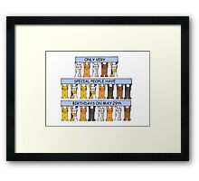 May 29th birthdays with cats. Framed Print