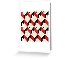 3d cube pattern - geometric design -seamless Greeting Card