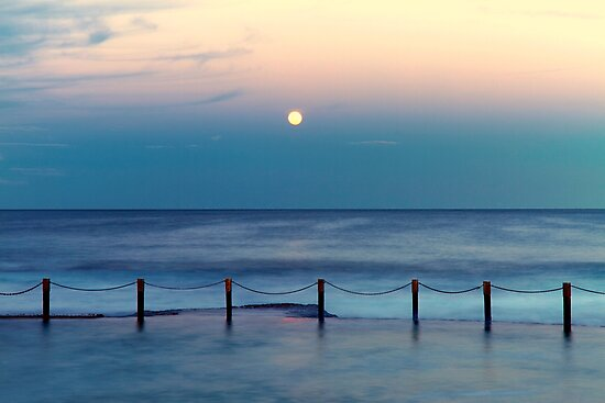 Moon Rising - Mahon Pool  by Mark  Lucey