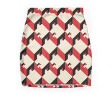 3d cube pattern - geometric design -seamless Mini Skirt