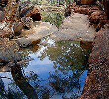 Reflections in Kings Canyon. by Gabrielle  Hope