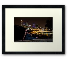 Night Portrait Framed Print