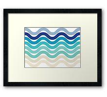 Beach- Sand, Ocean, Sky Color Theme Framed Print