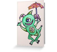 Happy Summer Monster Greeting Card