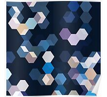 HONEYCOMB BLUE Poster