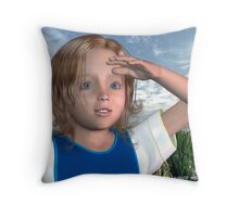 By The Morning Shore Throw Pillow