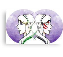 Link and Fierce Deity Link  Canvas Print