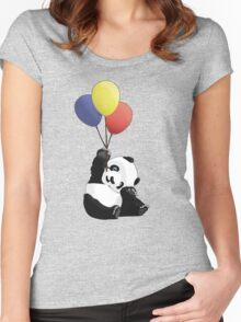 Panda's Happy Day Women's Fitted Scoop T-Shirt