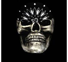 Skull with Bandana Photographic Print