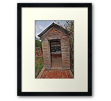 Twin Tub, Outhouse Framed Print