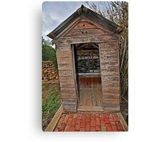 Twin Tub, Outhouse Canvas Print