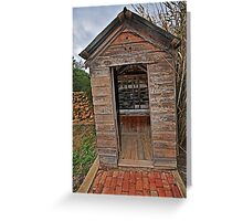 Twin Tub, Outhouse Greeting Card