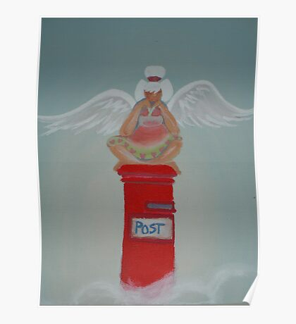 Postbox Angel Poster
