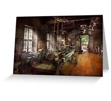 Machinist - Lathe - A long lathe Greeting Card