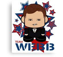 Team Webb Politico'bot Toy Robot Canvas Print