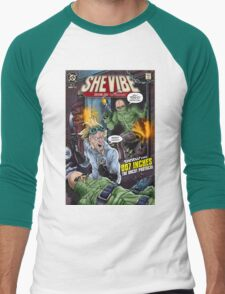 SheVibe Presents - Tantus in 007 Inches: The Uncut Protocol Cover Art Men's Baseball ¾ T-Shirt