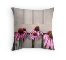Coneflower Couples Throw Pillow