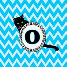 O Cat Chevron Monogram by gretzky
