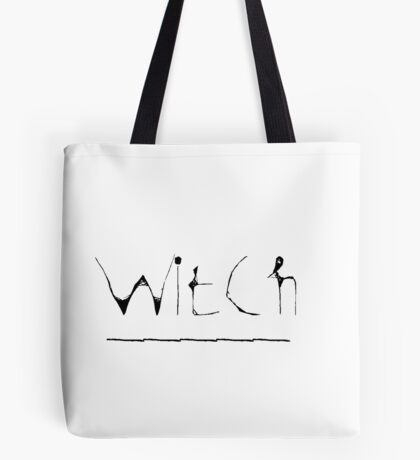 Witch Scrawl  Tote Bag
