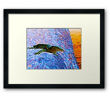 Water Dragon Surreal Framed Print