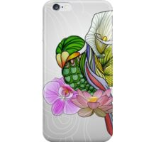 Color Flower Bird iPhone Case/Skin