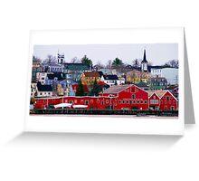 Lunenburg Waterfront Greeting Card