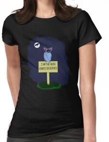 A Dark Night Womens Fitted T-Shirt