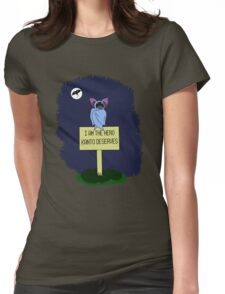 A Dark Night Womens Fitted T-Shirt