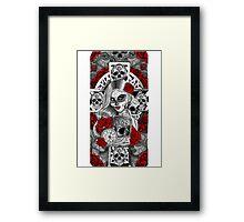 Day of the dead sugar skull celtic cross pocket watch mexican tattoo girl Framed Print