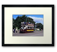 Old Tram at Beamish Museum Framed Print