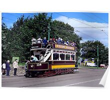 Old Tram at Beamish Museum Poster