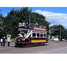 Old Tram at Beamish Museum Photographic Print