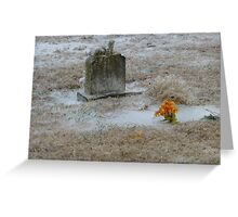 Cold Cemetery Greeting Card