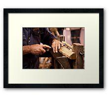 Howard's hands Framed Print