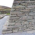 Gallarus Oratory, detail of stonework by nealbarnett